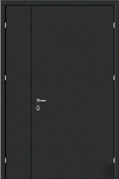техническая металлическая дверь черного цвета